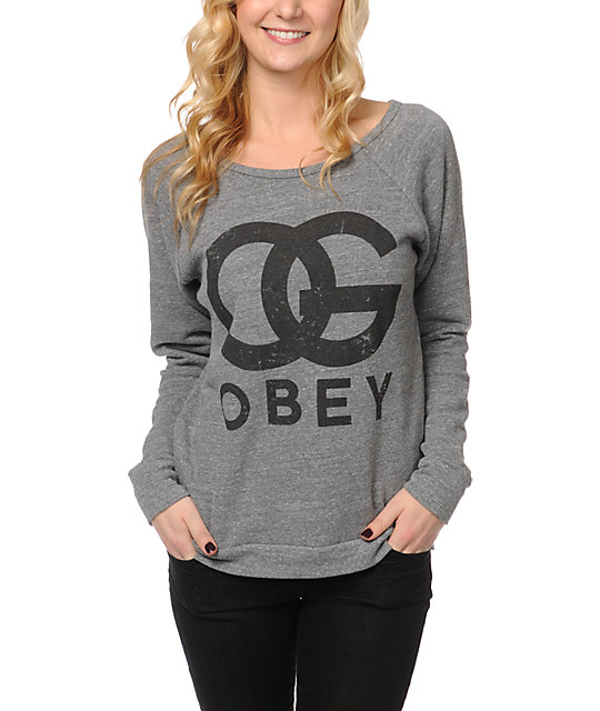 Obey OG Forever Heather Grey Crew Neck Sweatshirt