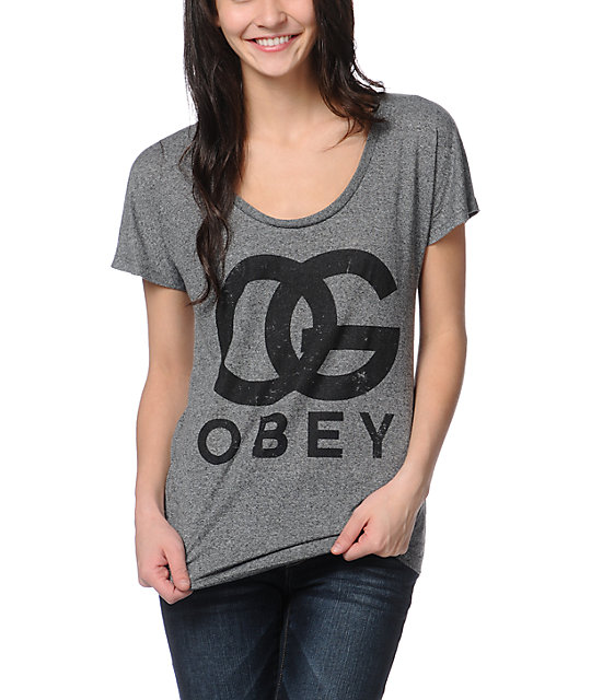 Obey OG Forever Heather Grey Mock Twist T-Shirt