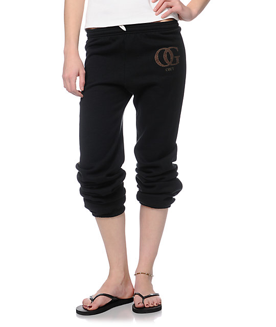 Obey OG Leopard Black Sweatpants