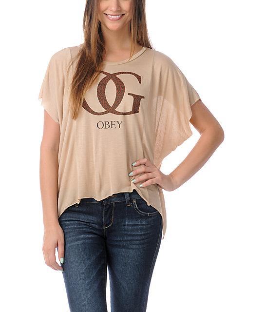 Obey OG Leopard Straight Line T-Shirt