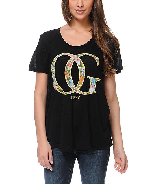 Obey OG Spring Black Beau T-Shirt