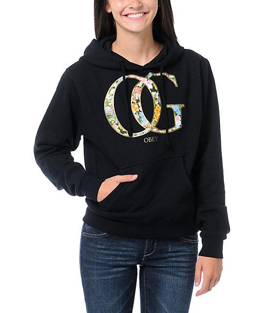 Obey OG Spring Black Pullover Hoodie