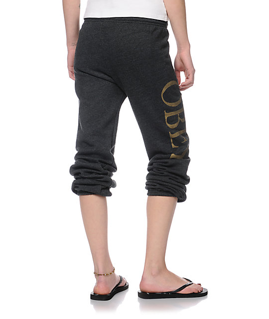 Obey OG Spring Charcoal Grey Sweatpants
