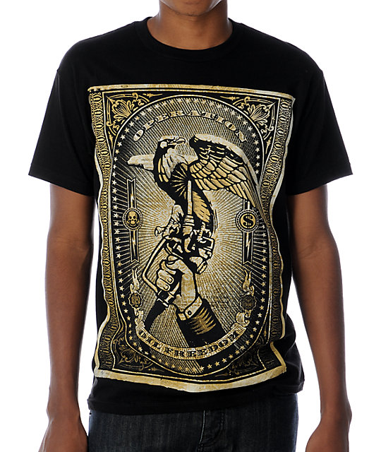 Obey Oil Freedom Black T-Shirt