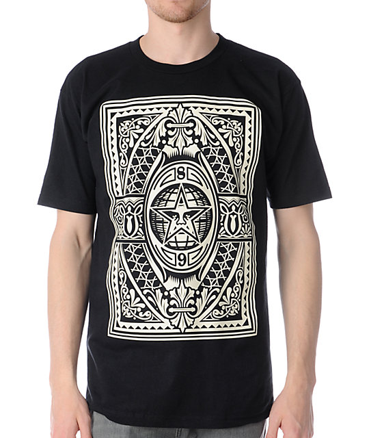 Obey Old World Order Black T-Shirt