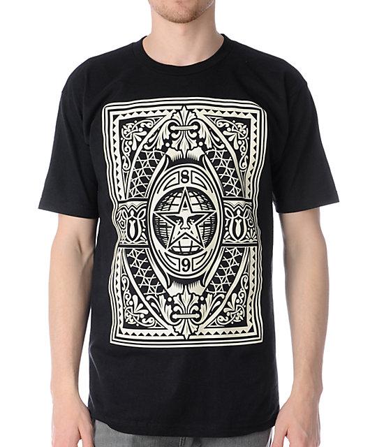 Obey Old World Order Black T-Shirt