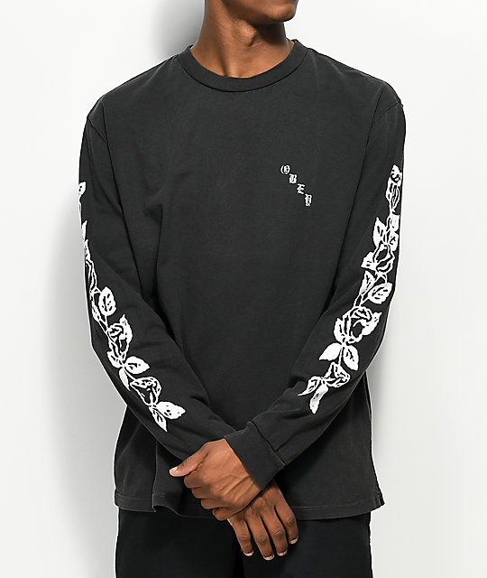 Obey Olde Rose Dusty Black Long Sleeve T-Shirt