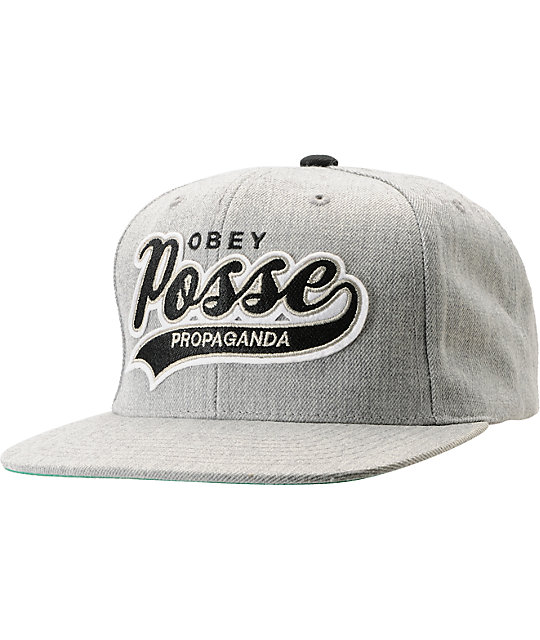 Obey On Deck Heather Grey Snapback Hat