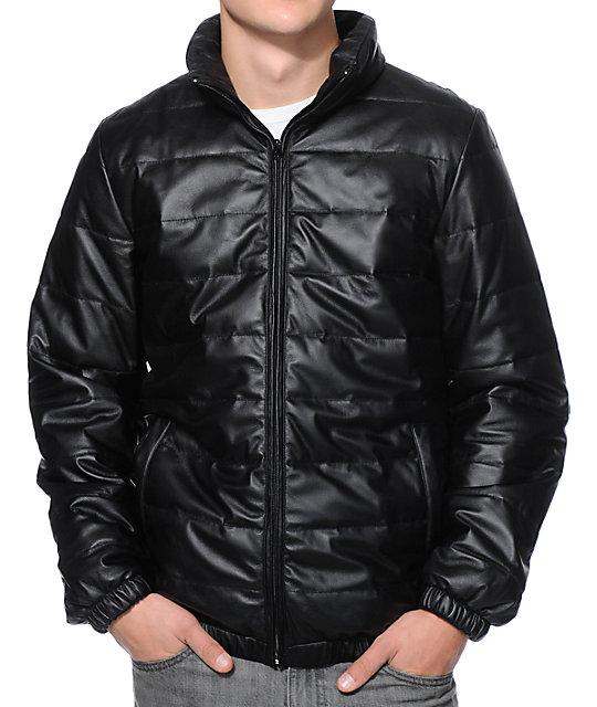 Obey leather jacket zumiez