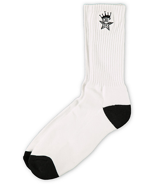 Obey Ordained White & Black Crew Socks