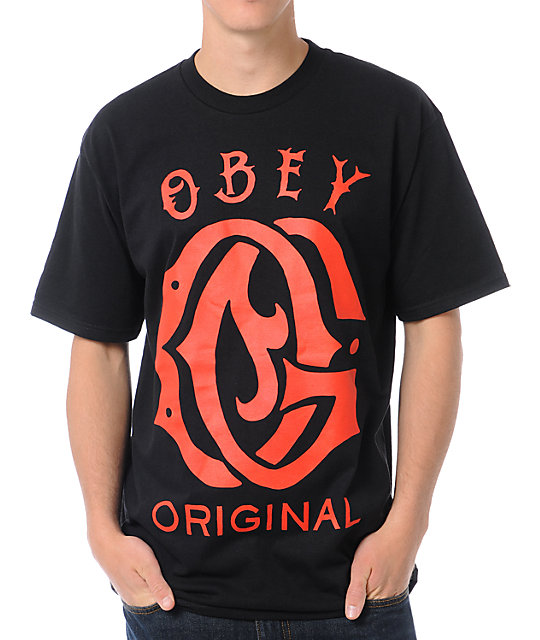 Obey Original Black T-Shirt