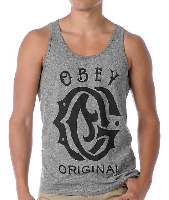 Obey Original Heather Grey Tank Top