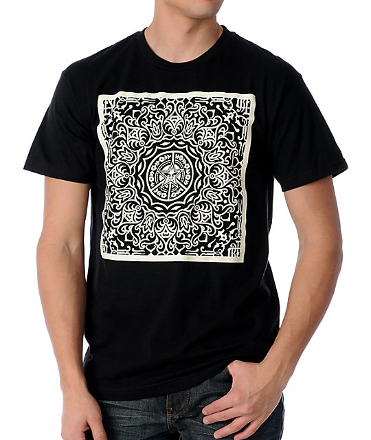 Obey Ornate Black T-Shirt