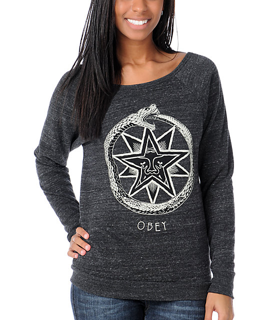 Obey Ourboros Crew Pullover Sweatshirt