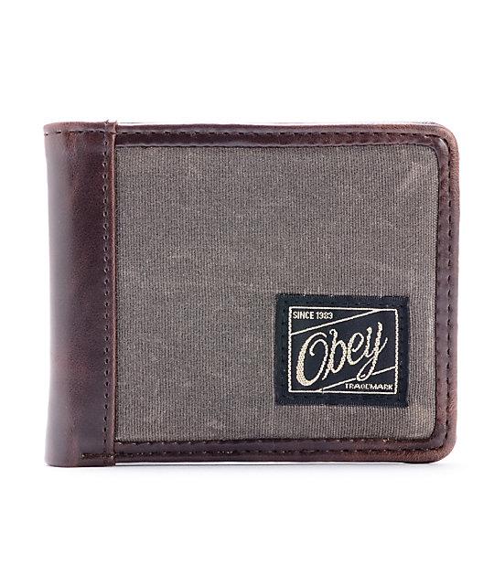 Obey Passenger Army Green Bi-Fold Wallet