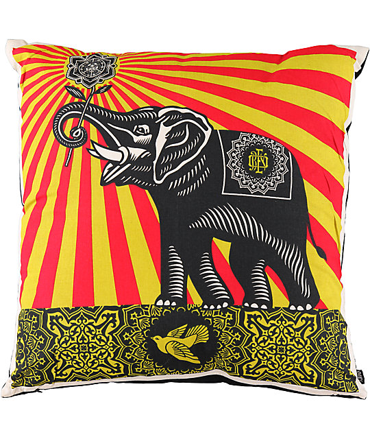 Obey Peace Elephant Throw Pillow At Zumiez Pdp