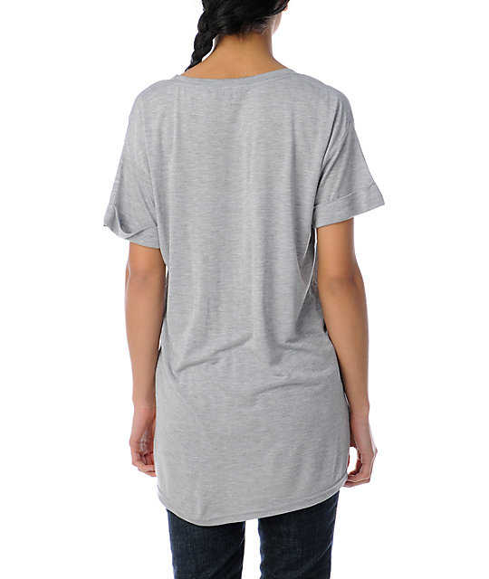 Obey Peace In Cali Oversized Rolled Sleeve T-Shirt