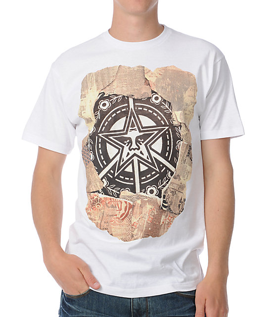 Obey Peace Star White T-Shirt