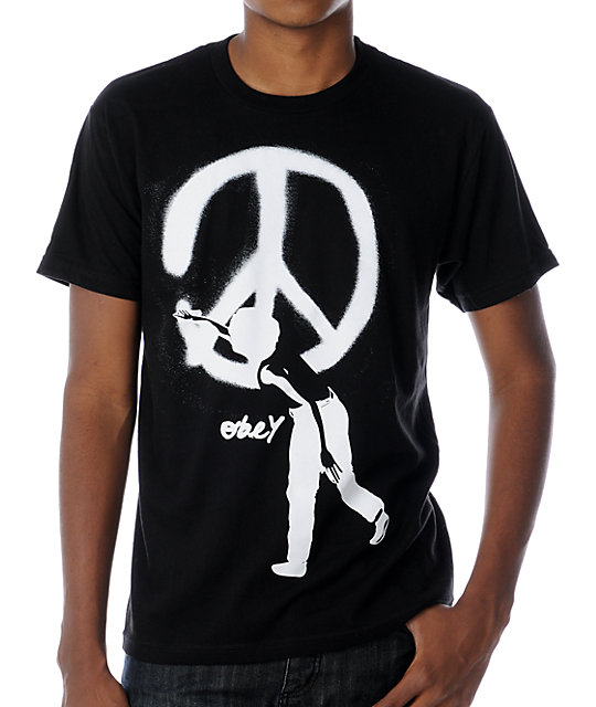 Obey Peace Vandal Black T-Shirt