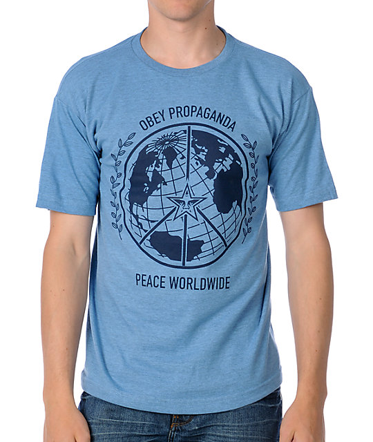 Obey Peace World Blue T-Shirt