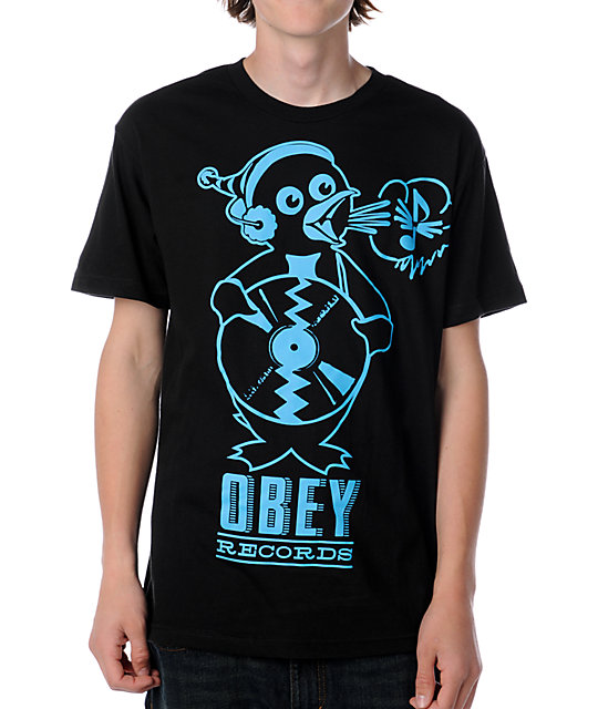 Obey Penguin Black T-Shirt