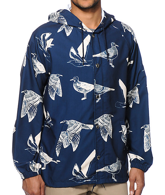 Obey Port Bird Windbreaker Jacket