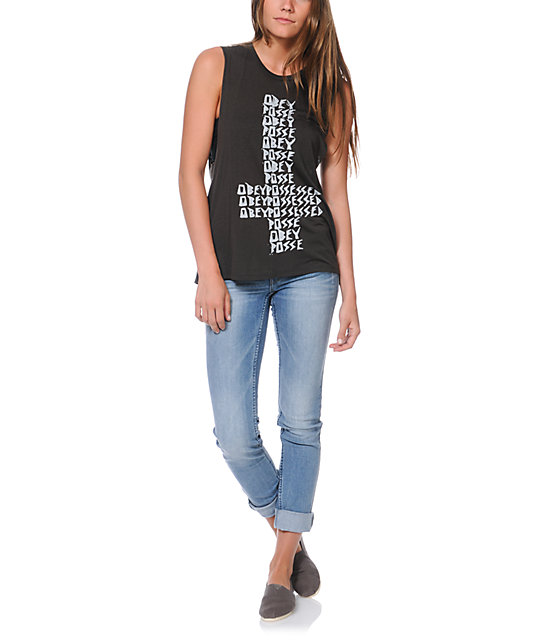 Obey Possessed Graphite Muscle Tank Top