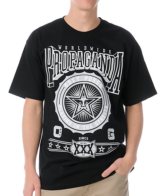 Obey Pro Bowl Black T-Shirt