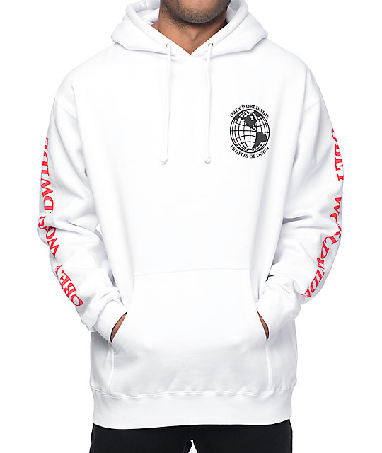 Obey Profits Of Doom White Hoodie