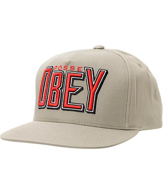 Obey Propaganda Grey Snapback Hat