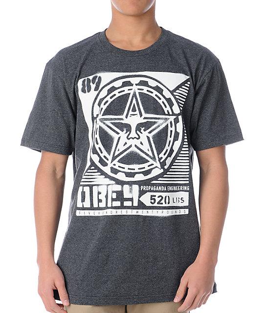 Obey Propaganda Stencil Charcoal T-Shirt
