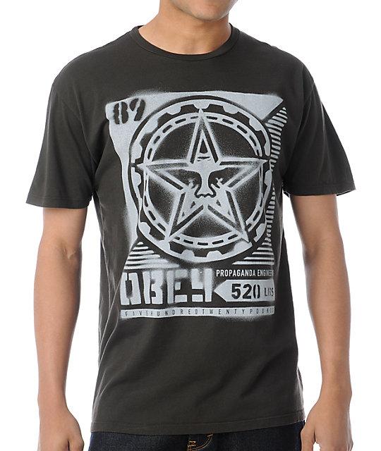 Obey Propaganda Stencil Thrift Brown T-Shirt