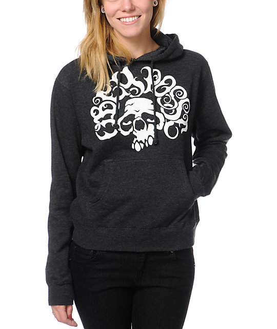 Obey Psychedelic Charcoal Pullover Hoodie