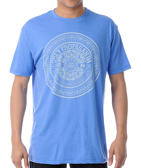 Obey Psychedelic Records Royal Heather T-Shirt