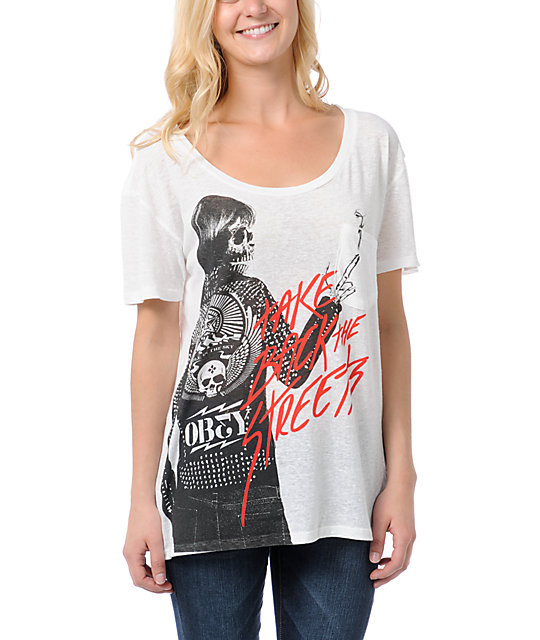 Obey Punker Chick Throwback T-Shirt