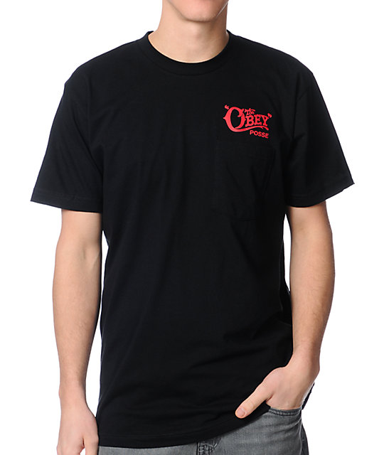 Obey Quality Delivery Black T-Shirt