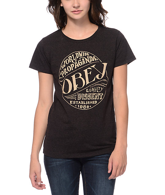 Obey Quality Heather Brown Tri-Blend T-Shirt