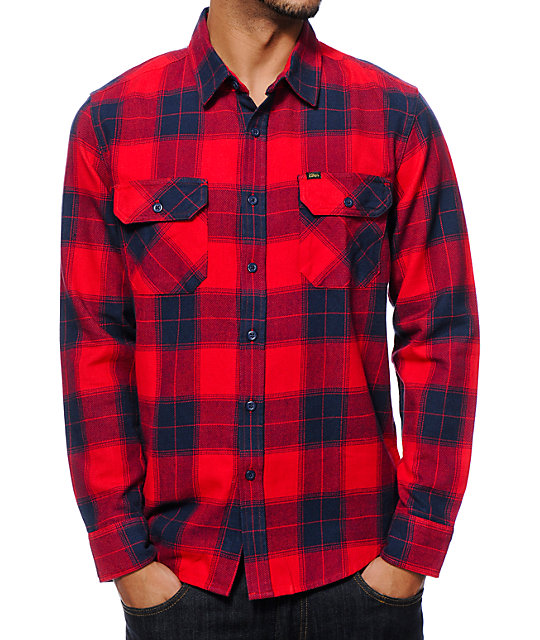 obey rampart flannel button up shirt zumiez