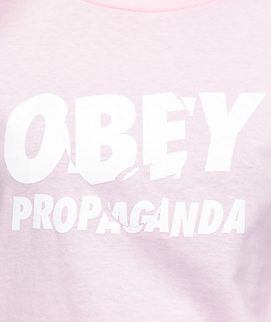 Obey Ray Jumble Pink Long Sleeve T-Shirt