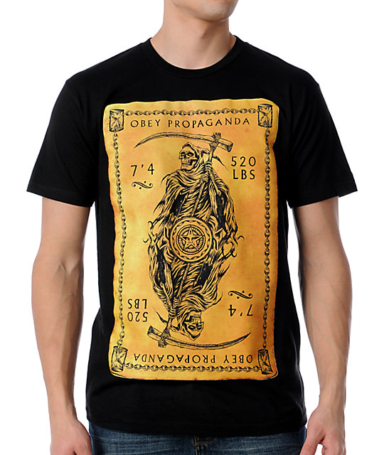 Obey Reaper Card Black T-Shirt