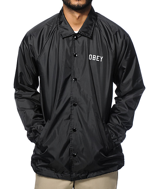 Obey Reflective Collegiate Coach Jacket at Zumiez : PDP