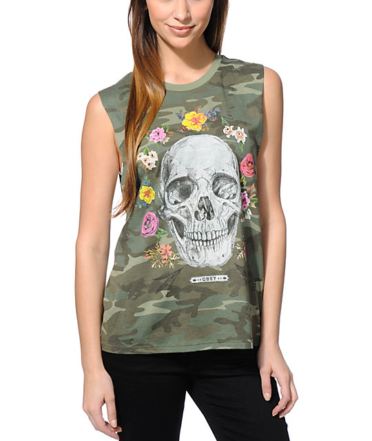 Obey Reincarnation Camo Muscle Tank Top