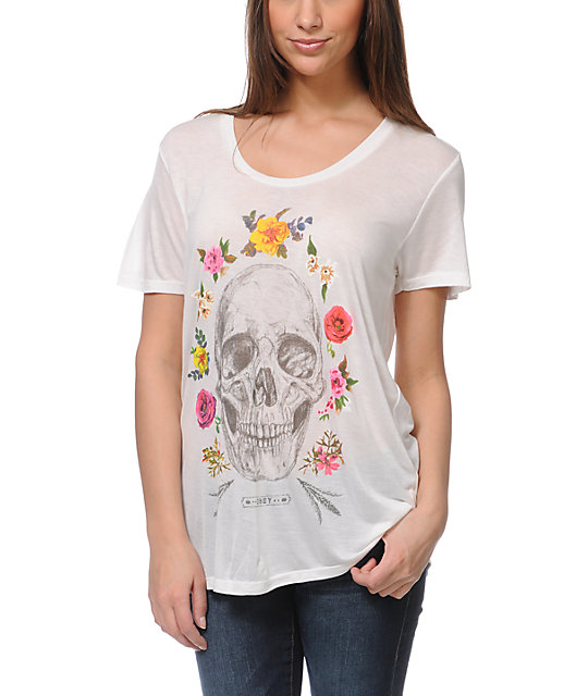 Obey Reincarnation Natural White Beau T-Shirt