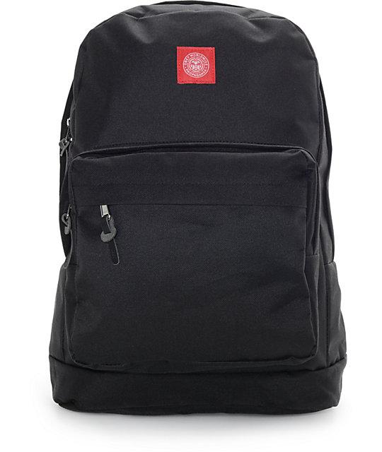 Obey Revolt Red Juvee Black Backpack