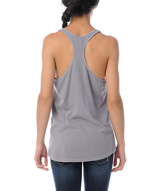 Obey Ride The Butterfly Grey Tank Top