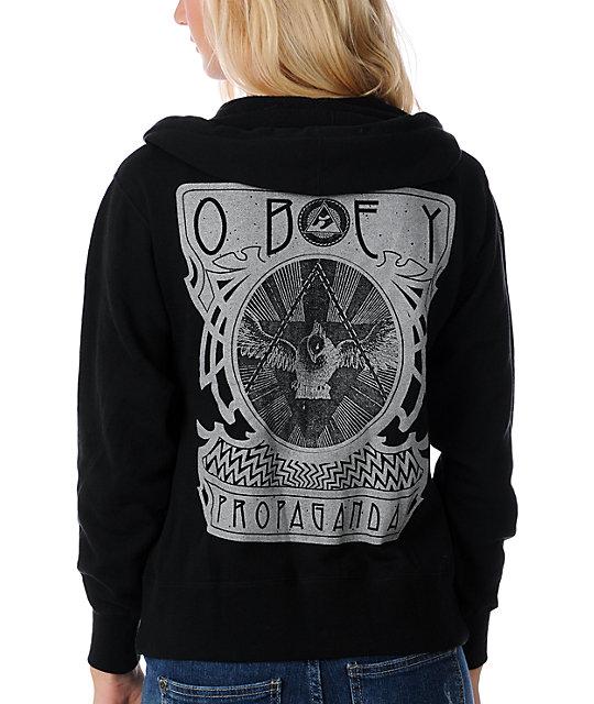 Obey Rising Black Hoodie
