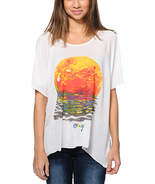 Obey Rising Red Sun Natural Harmony Top