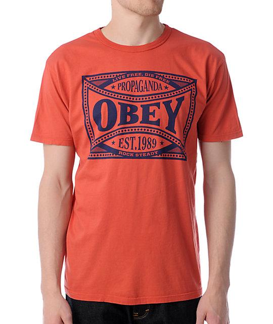 Obey Rock Steady Light Orange Antique T-Shirt