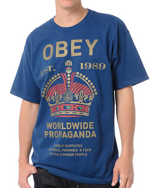 Obey Royal Mandate Blue T-Shirt