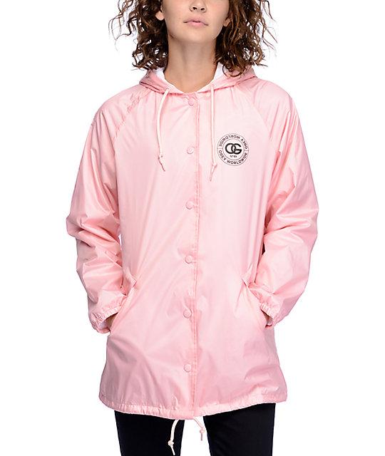 Obey Rue De La Ruine Pink Coaches Jacket at Zumiez : PDP